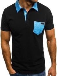 Pánská černá polokošile s kapsou MECH/2055