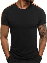 Černé klasické pánské tričko OZONEE MECH/2072T - M