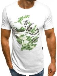 Bílé pánské módní tričko OZONEE B/181119