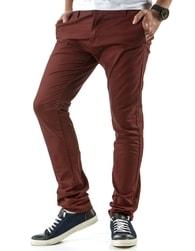Módní pánské bordové kalhoty