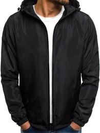 Pánská černá bunda OZONEE JS/HS06
