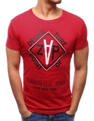 Dstreet Jedinečné tričko červené - XXL