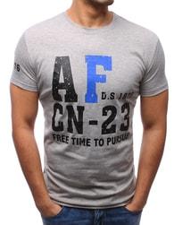 Dstreet AF pánské šedé tričko