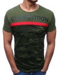 Dstreet Zelené maskáčové tričko COMPETITION