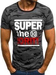 Černé pánské maskáčové tričko SUPER JS/5025