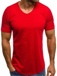 Červené pánské tričko OZONEE B/181590 - XXL