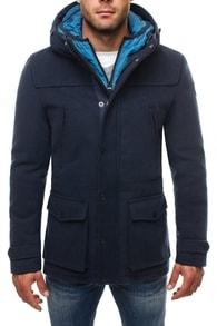 Dlouhý granátový zimní kabát 9959