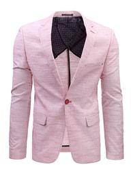 Dstreet Růžové pánské módní sako