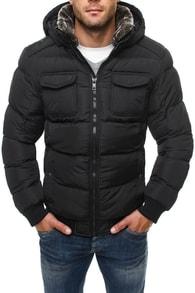 Pánská bunda černá 9847