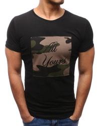 Černé pohodlné pánské tričko ALL YOURS - XXL