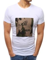 Bílé moderní pánské tričko ALL YOURS