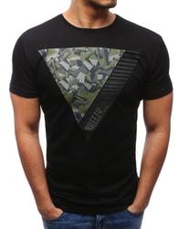 Pánské originální černé tričko s potiskem