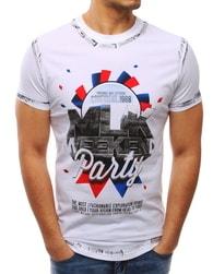 Fantastické bílé pánské tričko PARTY