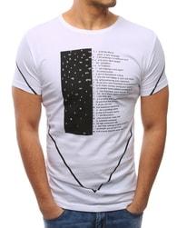 Jedinečné pánské tričko bílé