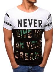 Moderní dvojbarevné pánské tričko s potiskem