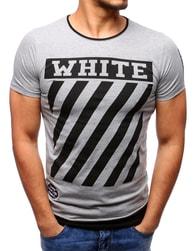 WHITE pánské šedé tričko - M