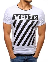 WHITE bílé pánské tričko