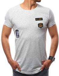 Šedé stylové pánské tričko - M