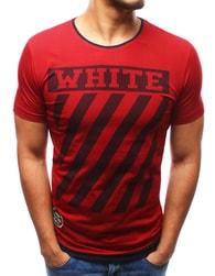 WHITE červené pánské tričko - L