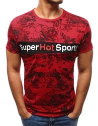 Dstreet Pánské červené tričko s krásným potiskem - XXL