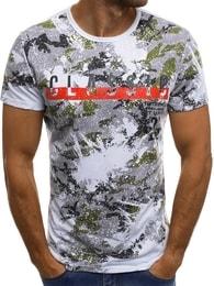 """""""Classic"""" pánské bílé tričko v zajímavém provedení JS/SS523"""