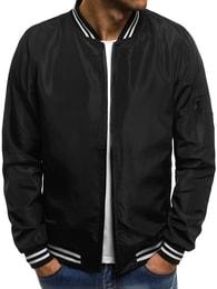Pánská černá módní bunda OZONEE JS/HS02