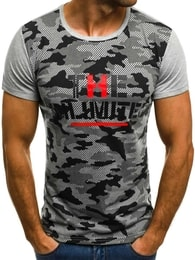 UNLIMITED pánské šedé tričko JS/5022 - M