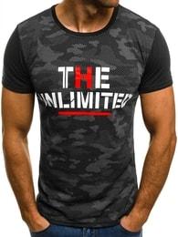 UNLIMITED pánské černé tričko JS/5022 - XXL