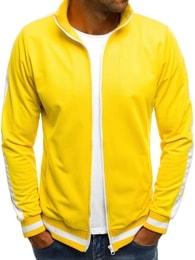 Žlutá mikina s bílými doplňky O/2126 - XL