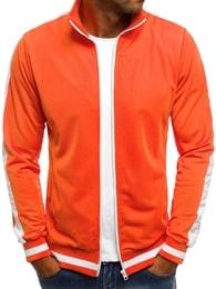 Pomerančová mikina s bílými doplňky O/2126 - XL