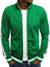 Zelená mikina s bílými doplňky O/2126 - XL