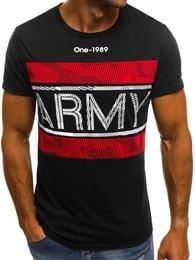 Černé tričko s nápisem ARMY OZONEE JS/SS570 - M
