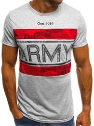 Šedé tričko s nápisem ARMY OZONEE JS/SS570