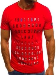 Červené atraktivní pánské triko OZONEE MECH/2044