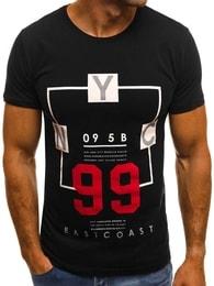 Černé tričko OZONEE MECH/2088T