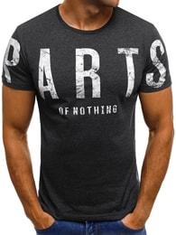Módní tmavě šedé pánské tričko O/1180