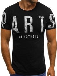 Černé módní tričko OZONEE O/1180