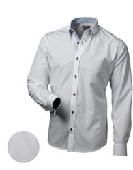 Victorio Elegantní bílá slim fit pánská košile V013