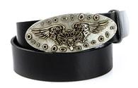 Ozdobný černý pásek s orlem (hx0048)