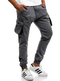 Šedé kalhoty s hlubokými kapsami ATHLETIC 705