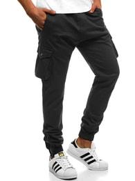 Černé kalhoty s hlubokými kapsami ATHLETIC 705