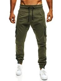 Khaki kalhoty s hlubokými kapsami ATHLETIC 705