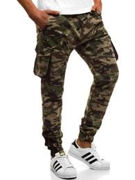 Zelené kalhoty s maskáčovým vzorem ATHLETIC 705