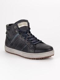 CNB Pánské kotníkové boty v černém odstínu