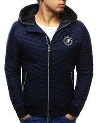 Dstreet Prošívaná tmavě modrá bunda