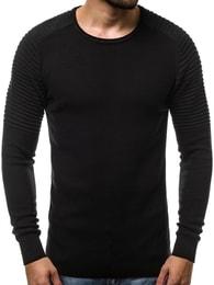 Trendy černý svetr OZONEE B/1146 - S