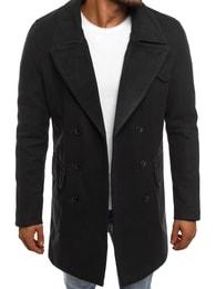 Dstreet Černý pánský kabát