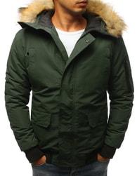 Dstreet Pánská zimní bunda zelená - XXL