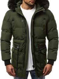Stylová zimní bunda OZONEE JB/1069 zelená - XXL