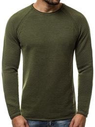 Zajímavý zelený svetr OZONEE B/2426 - L